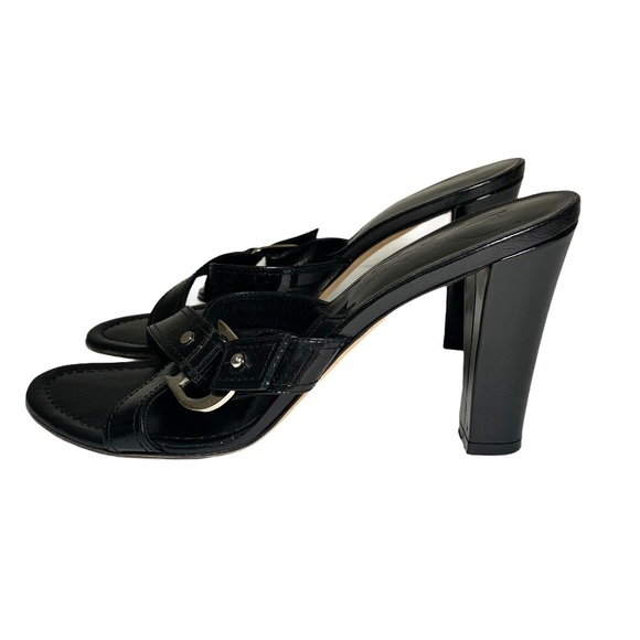 Dior Patent Leather Strappy Black Heel Sandals 8.5